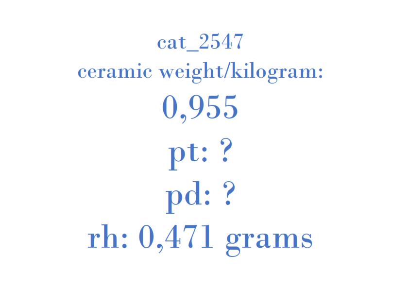 Precious Metal - 2X43-5E212-AF TYPE 1BCA