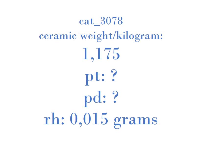 Precious Metal - 1C15-5E211-AH 001A735 12CO4AA T2A1A