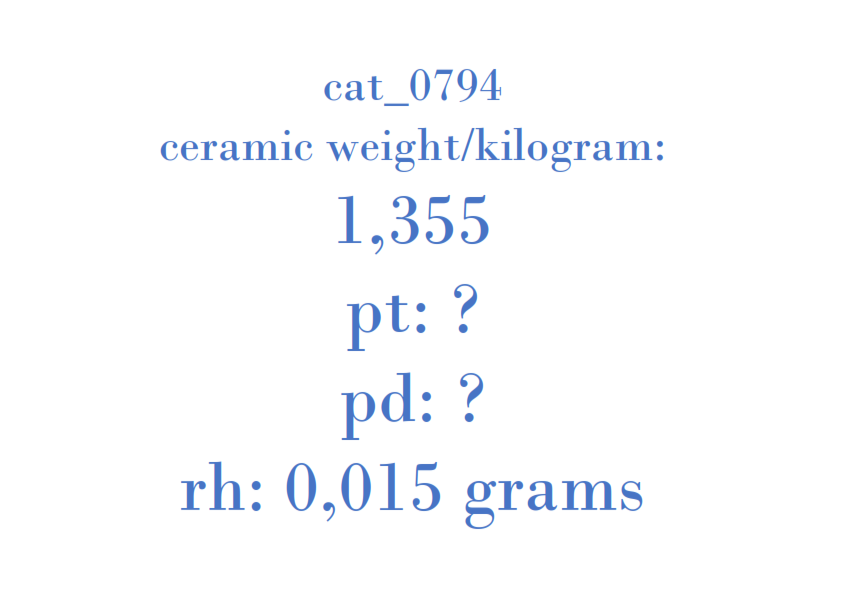 Precious Metal - 1350935080 1358829080 7M14-J595 GHBE-11