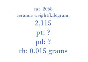 Precious Metal - KT1173 A2034902036 05M01N E80021 500086910N