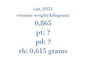 Precious Metal - GM64 11MO1 BA 0700781 GM 000B552 24459702